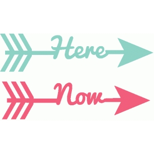 here & now word arrows