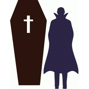 vampire and coffin