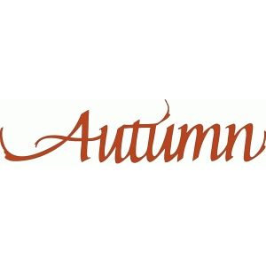 autumn - calligraphy