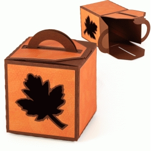 3d leaf handled box