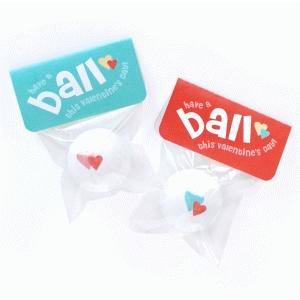 valentine card - ball