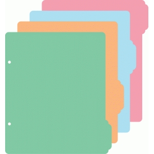6x8 album 4 tab dividers