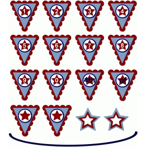 4th of july banner numbers stars