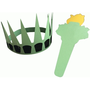statue of liberty crown and torch