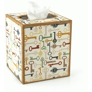 3d square tissue box