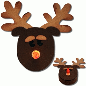 3d reindeer tealight holder
