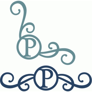 monogram seal flourishes p