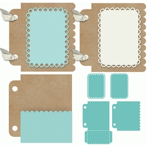 3x4 mini album pocket scallop set