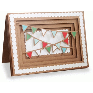 banner shadow box folded card