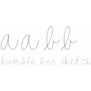 bumble bee sketch font