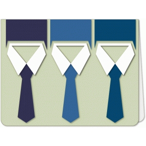 neck tie trio a6 card