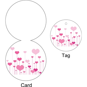 hearts circular card and tag (print and cut)