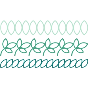 3 outlined leaf borders