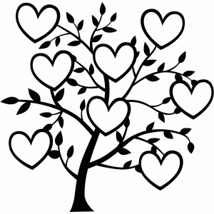 8 heart family tree