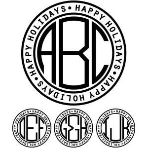 monogram basic -  happy holidays ring