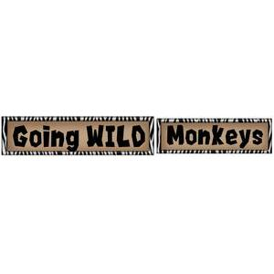 zoo labels -going wild & monkeys