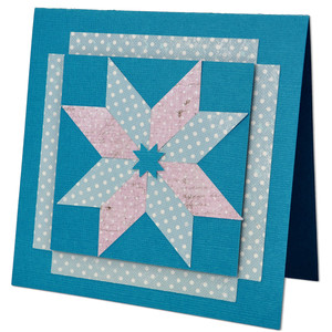 star quilt block card