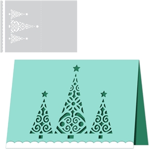 card christmas tree trio