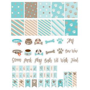 doggy-themed planner stickers