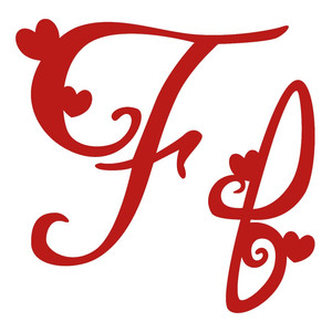 f romantic monogram