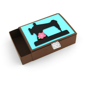matchbox drawer card sewing machine