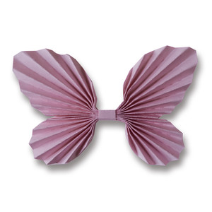 3d accordian pleated butterfly