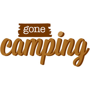 gone camping title - happy camper