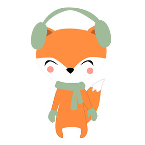 fox in earmuffs