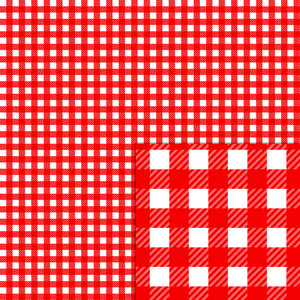 plaid red white pattern