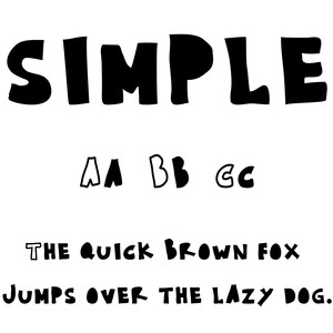 cg simple font