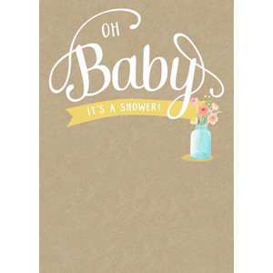 blank, diy baby shower invitation