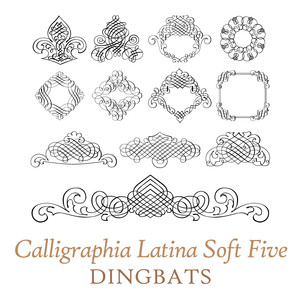 calligraphia latina soft five dingbats