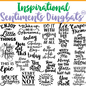 sg inspirational sentiments dingbats