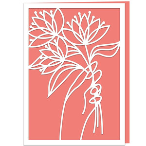 hand with flowers card