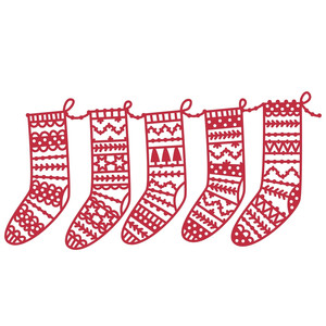 christmas stockings repeatable border