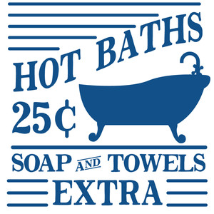 hot baths sign