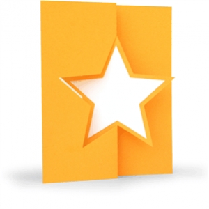 3d flip swing card star