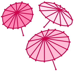 japanese parasols or umbrellas