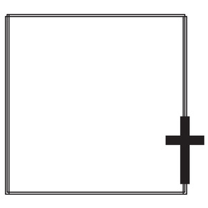 cross square doodle frame