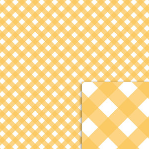 yellow gingham background paper