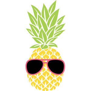 pineapple in sunglasses