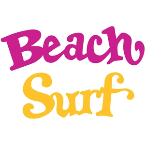 retro beach words