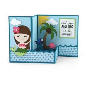 pop up box card mermaid