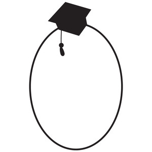 oval graduation frame