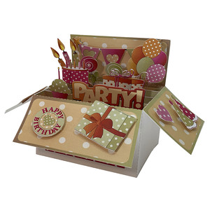 birthday pop up card in a box