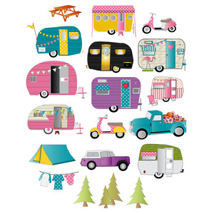 camper/trailer planner stickers