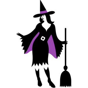 witch and broom