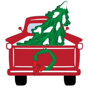 farmhouse christmas truck