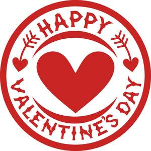 happy valentines day symbol