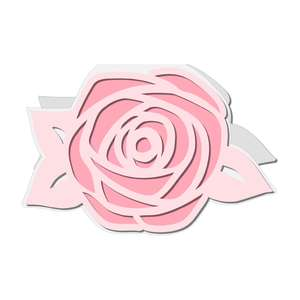 shaped rose card